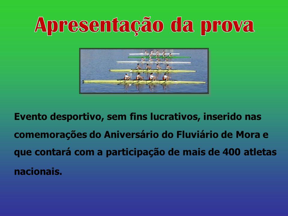 Evento desportivo, sem fins lucrativos, inserido nas comemorações do Aniversário do Fluviário de Mora e que contará com a participação de mais de 400 atletas nacionais.