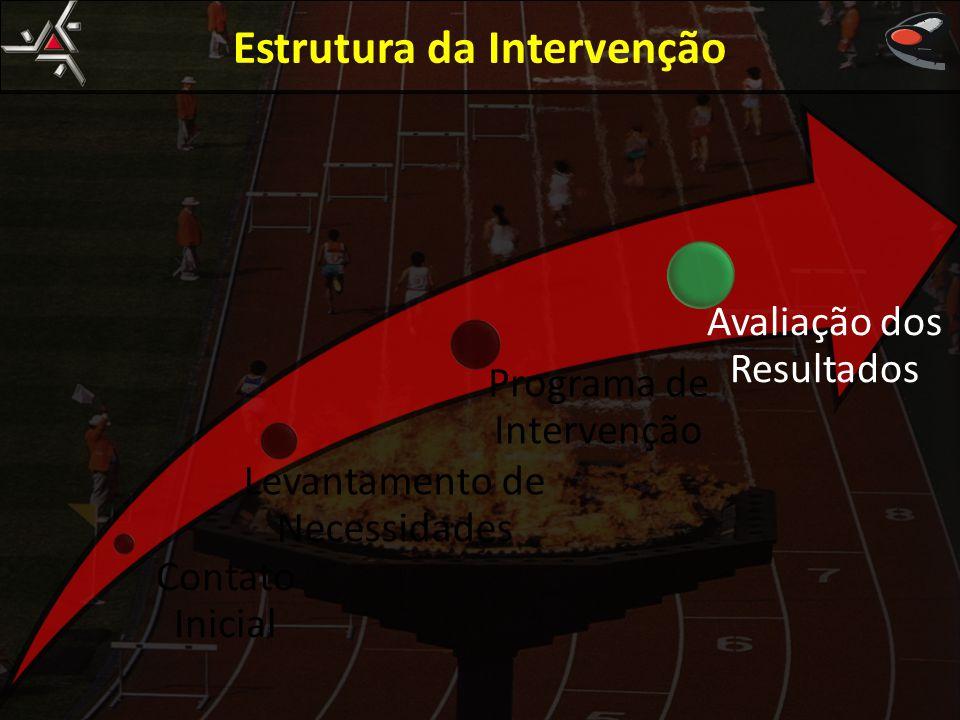 Estrutura da Intervenção Contato Inicial Levantamento de Necessidades Programa de Intervenção Avaliação dos Resultados