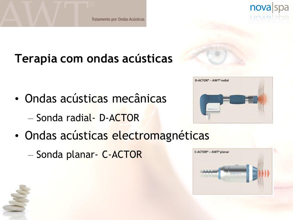 Terapia com ondas acústicas • Ondas acústicas mecânicas – Sonda radial- D-ACTOR • Ondas acústicas electromagnéticas – Sonda planar- C-ACTOR