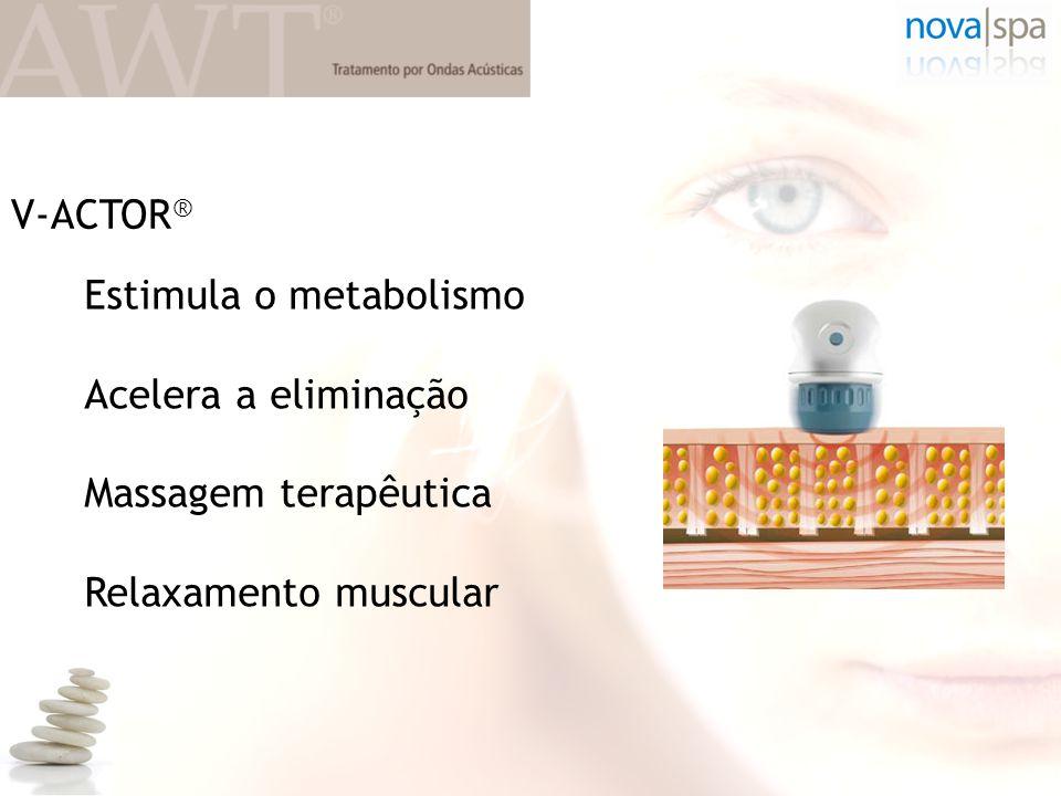 Estimula o metabolismo Acelera a eliminação Massagem terapêutica Relaxamento muscular V-ACTOR ®