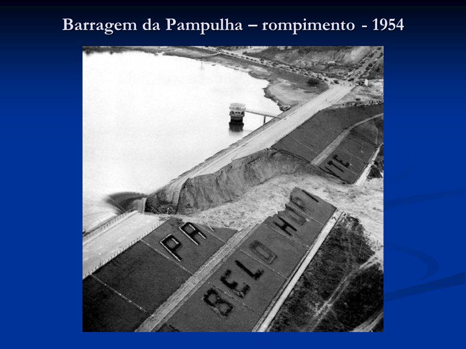 Barragem da Pampulha – rompimento - 1954