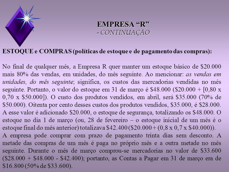 Quadro IX (Fluxo de caixa) Continuação OOBS:  Desemb.c/ desp.oper.