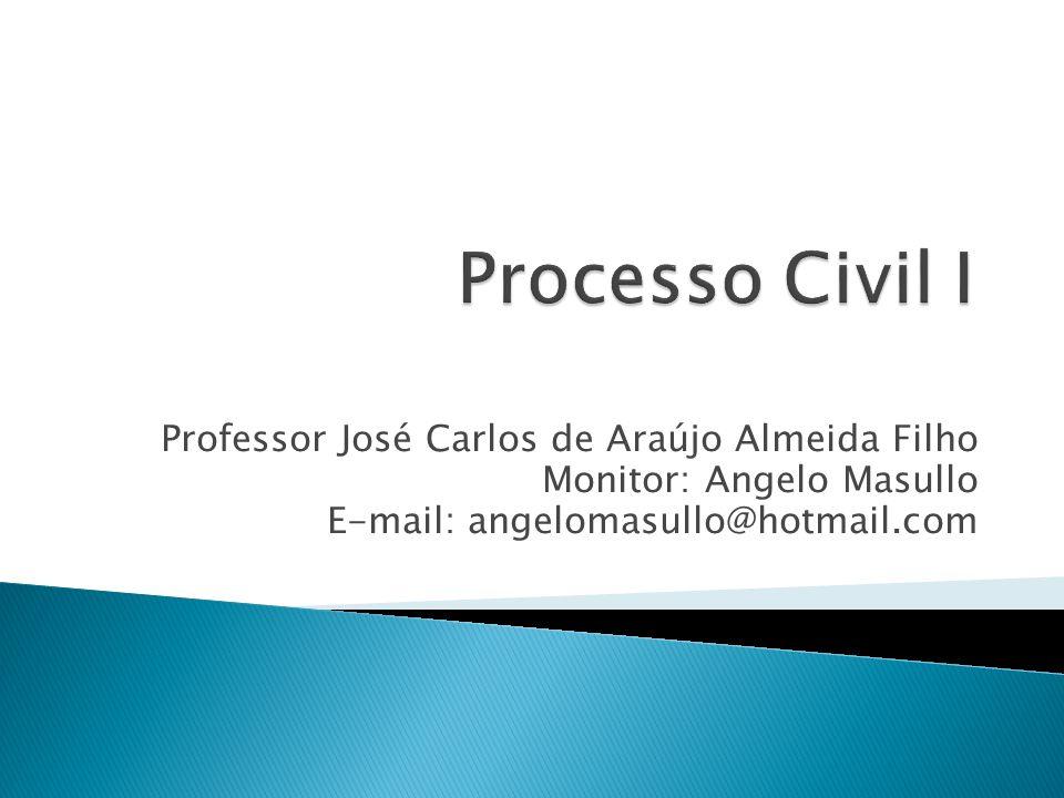 Professor José Carlos de Araújo Almeida Filho Monitor: Angelo Masullo E-mail: angelomasullo@hotmail.com
