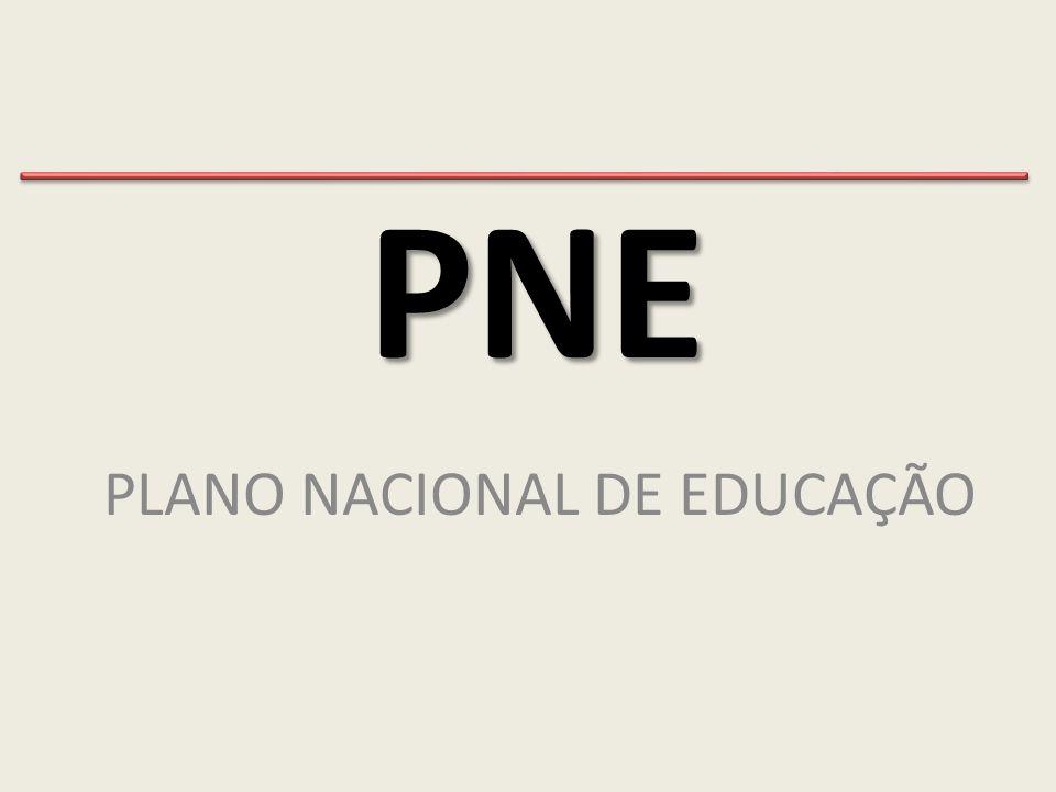 PNE PLANO NACIONAL DE EDUCAÇÃO