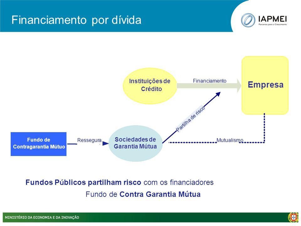 Sociedades de Garantia Mútua Instituições de Crédito Financiamento MutualismoFundo de Contragarantia Mútuo Ressegura Partilha de risco Fundos P ú blic