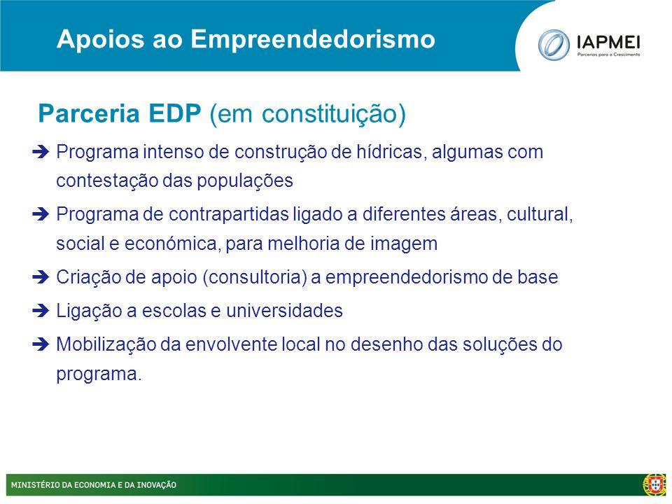 Parceria EDP (em constituição)  Programa intenso de construção de hídricas, algumas com contestação das populações  Programa de contrapartidas ligad