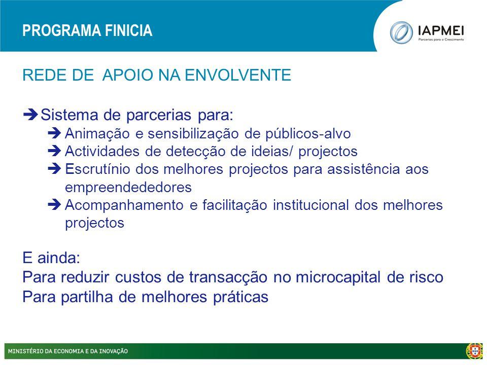 REDE DE APOIO NA ENVOLVENTE  Sistema de parcerias para:  Animação e sensibilização de públicos-alvo  Actividades de detecção de ideias/ projectos 