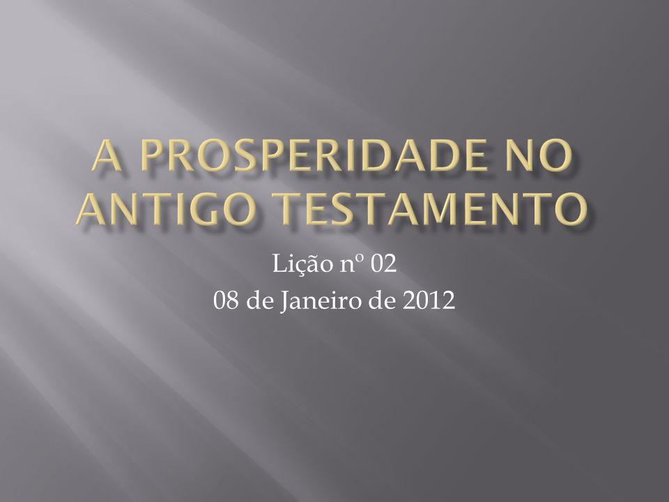 Lição nº 02 08 de Janeiro de 2012
