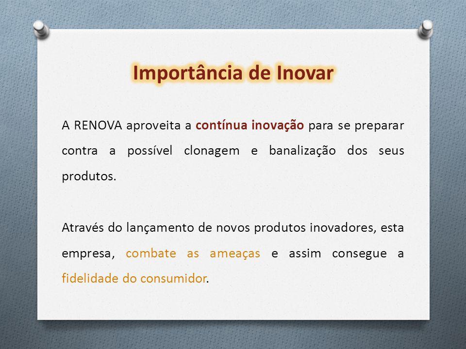 A RENOVA aproveita a contínua inovação para se preparar contra a possível clonagem e banalização dos seus produtos.