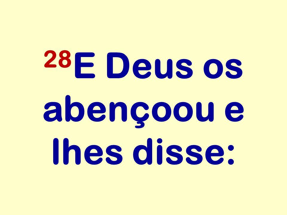 28 E Deus os abençoou e lhes disse: