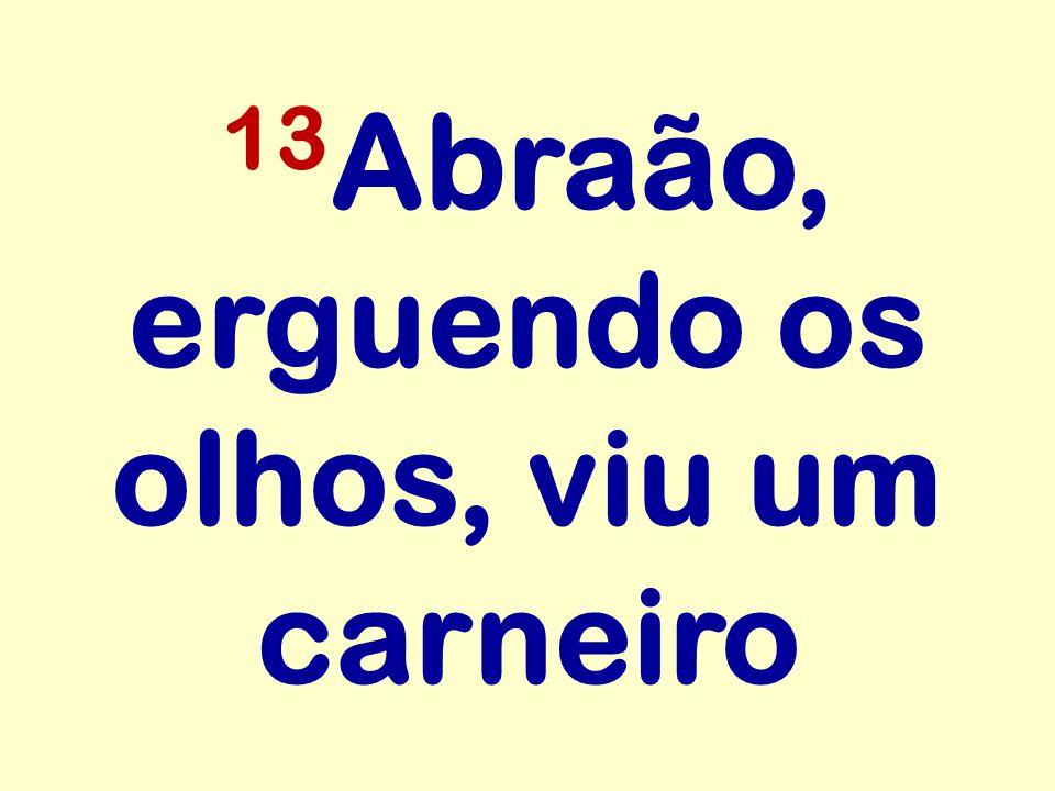 13 Abraão, erguendo os olhos, viu um carneiro
