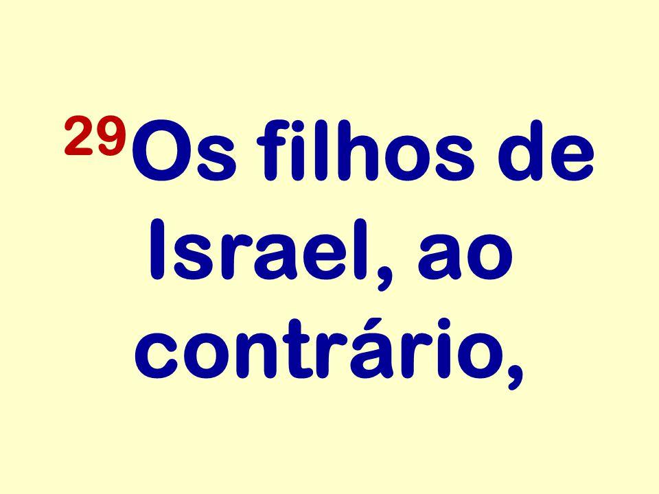 29 Os filhos de Israel, ao contrário,