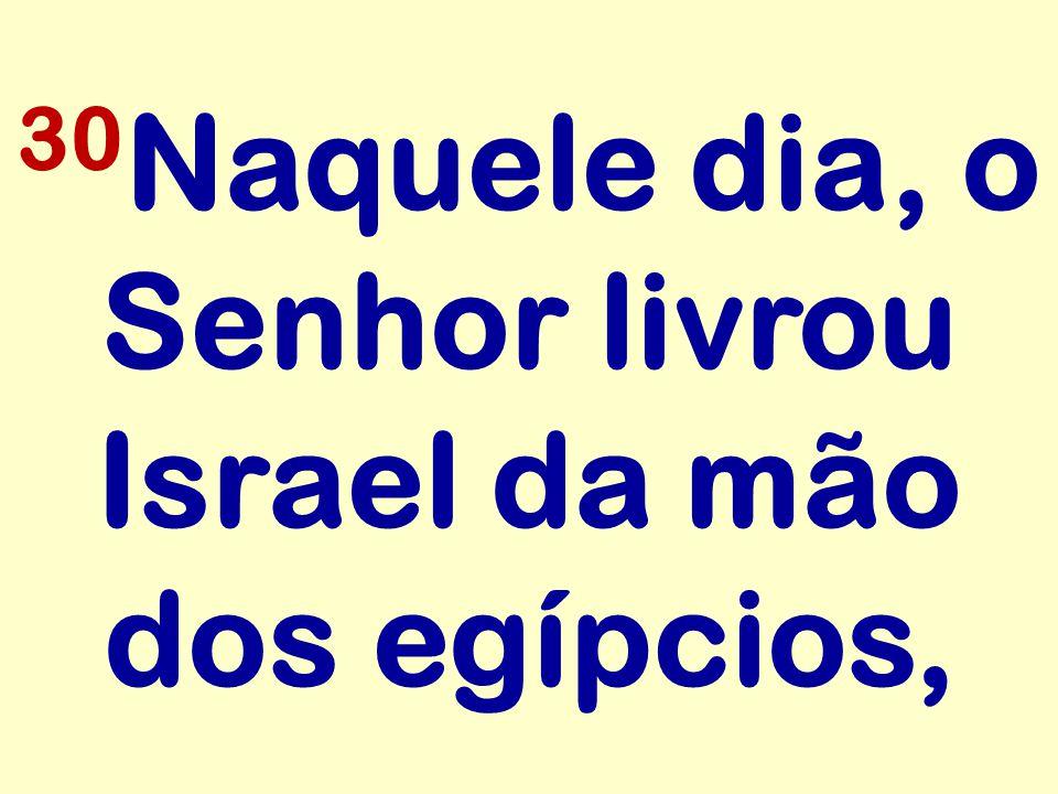 30 Naquele dia, o Senhor livrou Israel da mão dos egípcios,