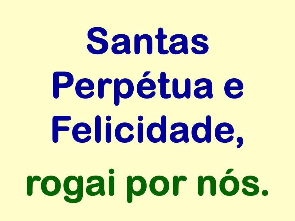 Santas Perpétua e Felicidade, rogai por nós.
