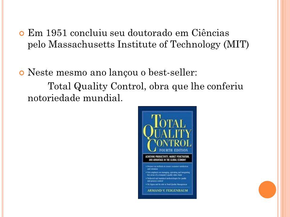 Em 1951 concluiu seu doutorado em Ciências pelo Massachusetts Institute of Technology (MIT) Neste mesmo ano lançou o best-seller: Total Quality Control, obra que lhe conferiu notoriedade mundial.