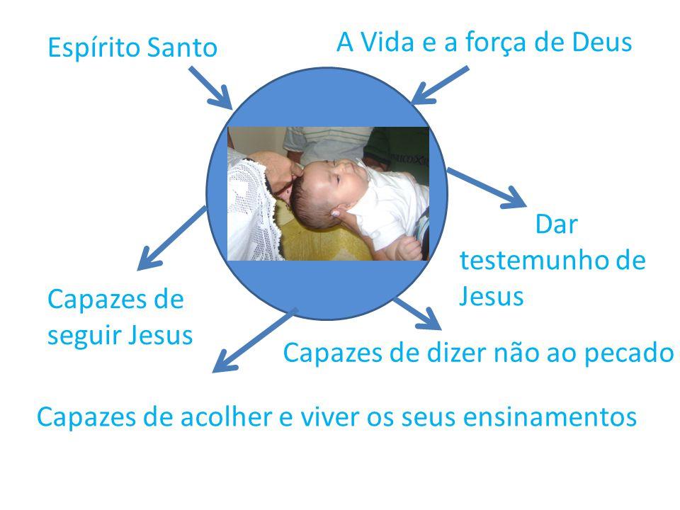 Espírito Santo A Vida e a força de Deus Capazes de seguir Jesus Capazes de acolher e viver os seus ensinamentos Dar testemunho de Jesus Capazes de diz