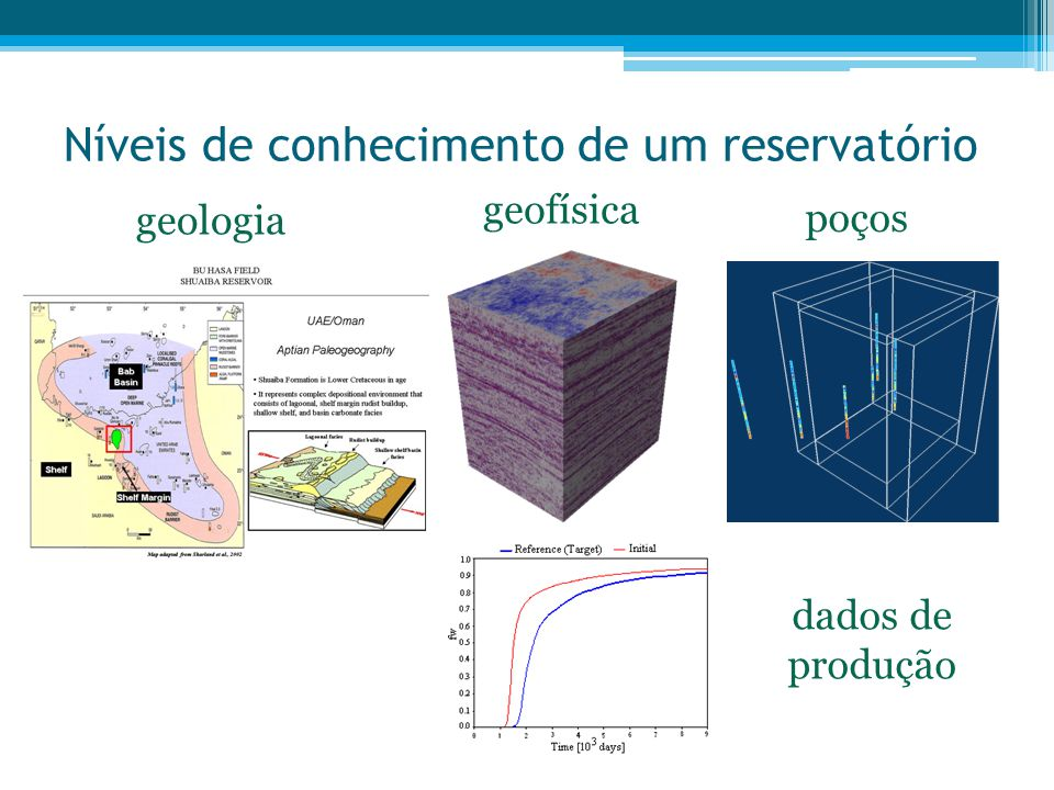 Necessidade de um modelo da realidade •Planeamento da prospecção •Avaliação de reservas •Planeamento e Gestão da Produção •Gestão do recurso