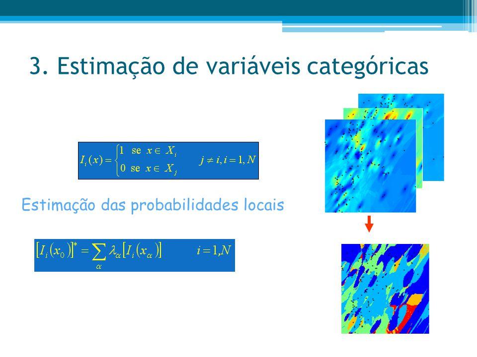 3. Estimação de variáveis categóricas Estimação das probabilidades locais