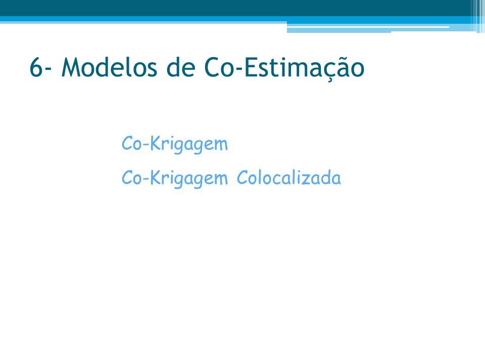 6- Modelos de Co-Estimação Co-Krigagem Co-Krigagem Colocalizada