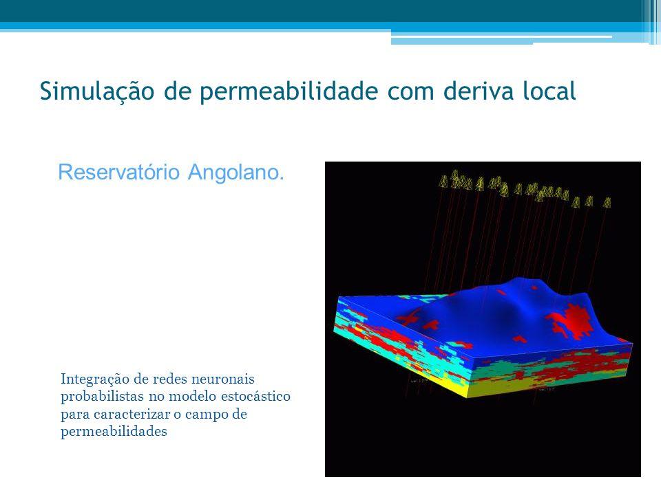 Simulação de permeabilidade com deriva local Reservatório Angolano. Integração de redes neuronais probabilistas no modelo estocástico para caracteriza