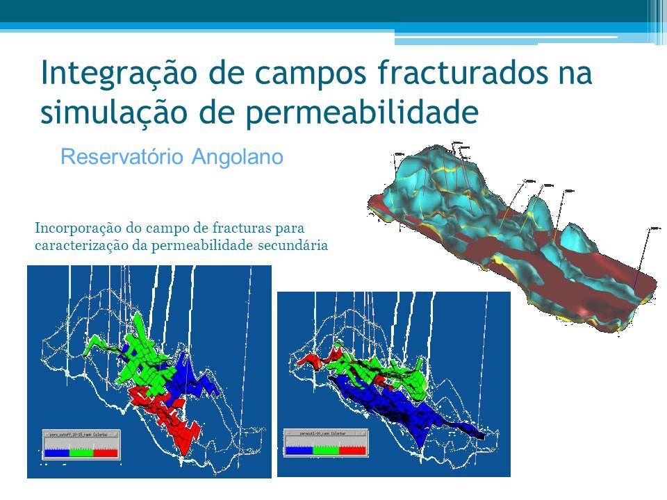 Integração de campos fracturados na simulação de permeabilidade Incorporação do campo de fracturas para caracterização da permeabilidade secundária Re
