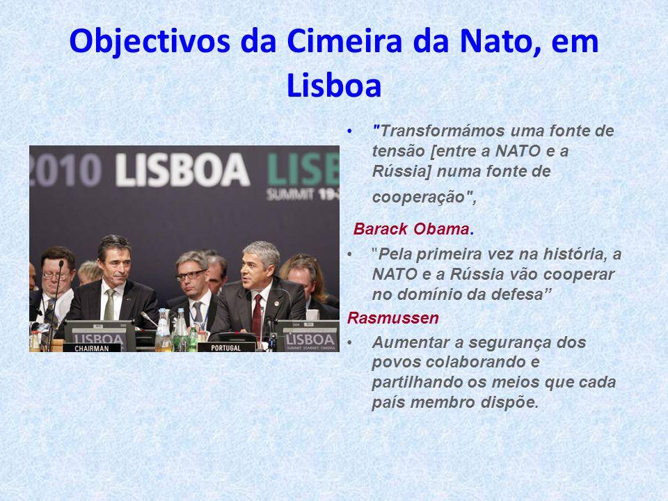 Objectivos da Cimeira da Nato, em Lisboa •