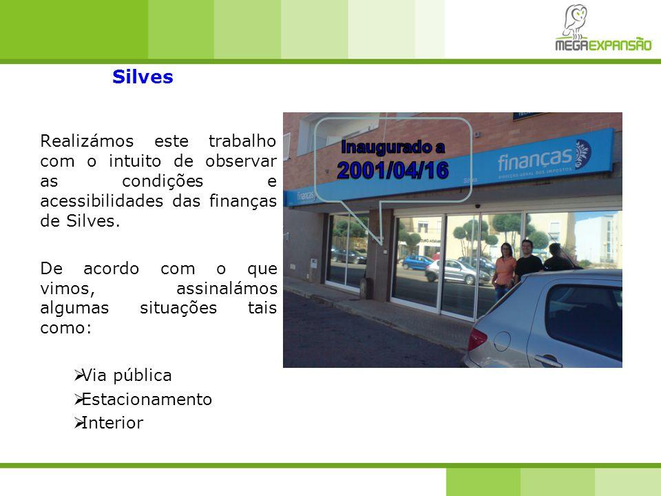 Silves Realizámos este trabalho com o intuito de observar as condições e acessibilidades das finanças de Silves.