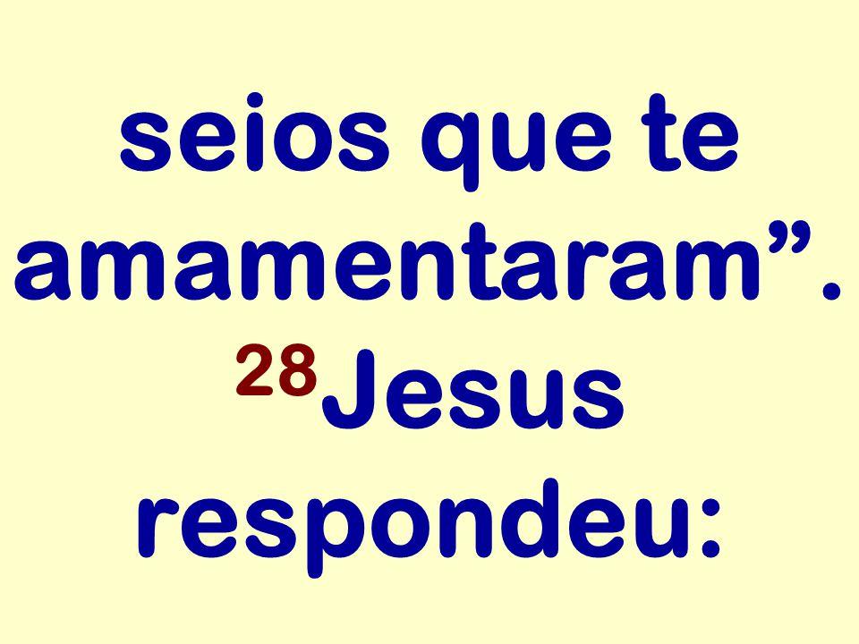 seios que te amamentaram . 28 Jesus respondeu: