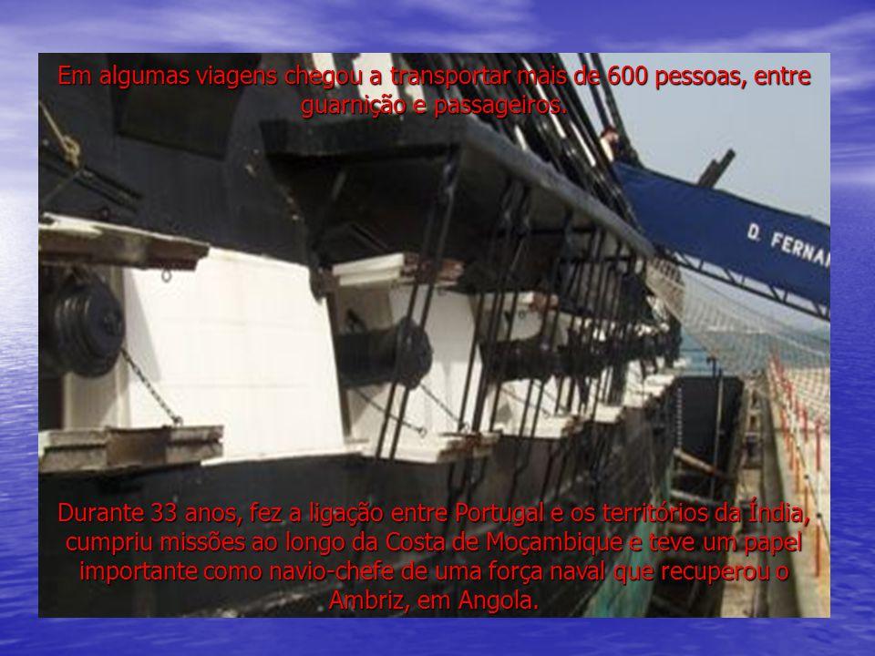 Durante este período navegou mais de 100.000 milhas náuticas, correspondentes a cinco voltas ao mundo.