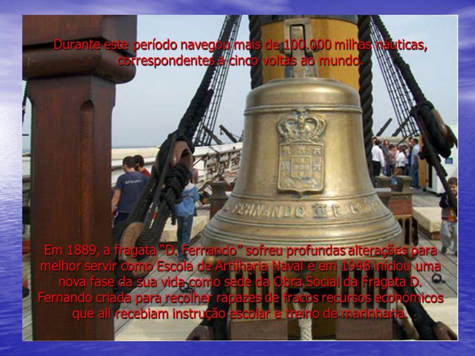 (imagem do folheto) Em 1963, um violento incêndio destruiu o navio, em grande parte, pelo que ficou encalhado no Tejo até 1992, data em que foi posto a flutuar, removido e transportado para o estaleiro da Ria Marine em Aveiro.