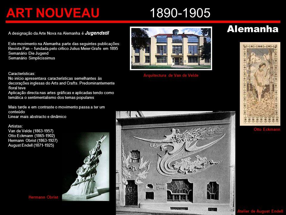 ART NOUVEAU1890-1905 A designação da Arte Nova na Alemanha é Jugendstil Este movimento na Alemanha parte das seguintes publicações: Revista Pan – fund