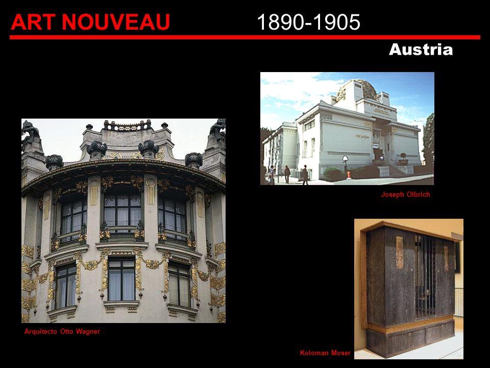 ART NOUVEAU1890-1905 Koloman Moser Austria Arquitecto Otto Wagner Joseph Olbrich