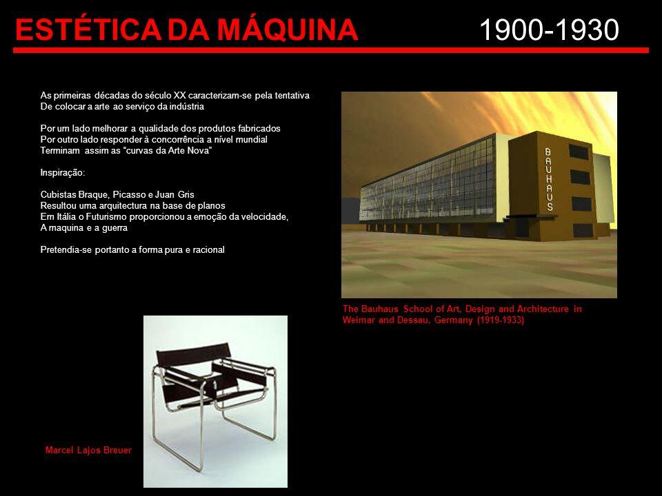 ESTÉTICA DA MÁQUINA1900-1930 As primeiras décadas do século XX caracterizam-se pela tentativa De colocar a arte ao serviço da indústria Por um lado me