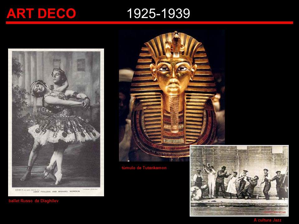 ART DECO1925-1939 ballet Russo de Diaghilev túmulo de Tutankamon A cultura Jazz