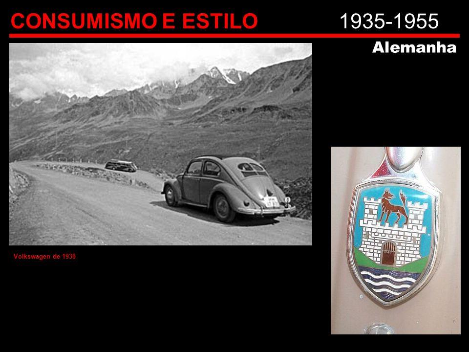 CONSUMISMO E ESTILO1935-1955 Alemanha Volkswagen de 1938