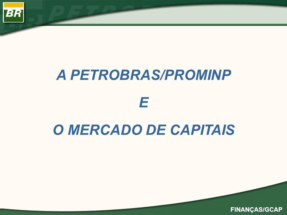 FINANÇAS/GCAP PROMINP – Programa de Mobilização da Indústria Nacional de Petróleo e Gás, suportado pela PETROBRAS para capacitar e desenvolver fornecedores de bens e serviços, São 45 subprogramas dentre os quais dois são destinados à capacitação econômico-financeira: 1) PROMINP-Recebíveis, destinado a financiar os contratos, com base nos seus recebíveis, cujo provedor de fundos são FIDC desenvolvidos por instituições do MERCADO DE CAPITAIS, com apoio da PETROBRAS inclusive, em alguns casos, mediante subscrição de quotas subordinadas..