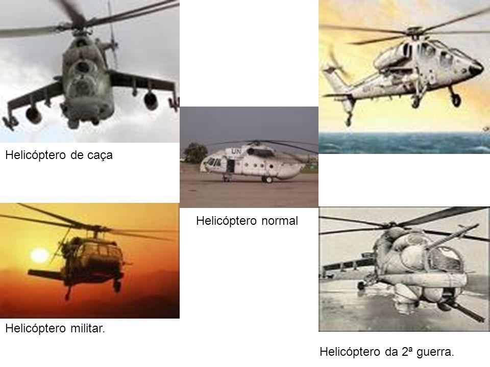 Helicóptero da 2ª guerra. Helicóptero militar. Helicóptero normal Helicóptero de caça