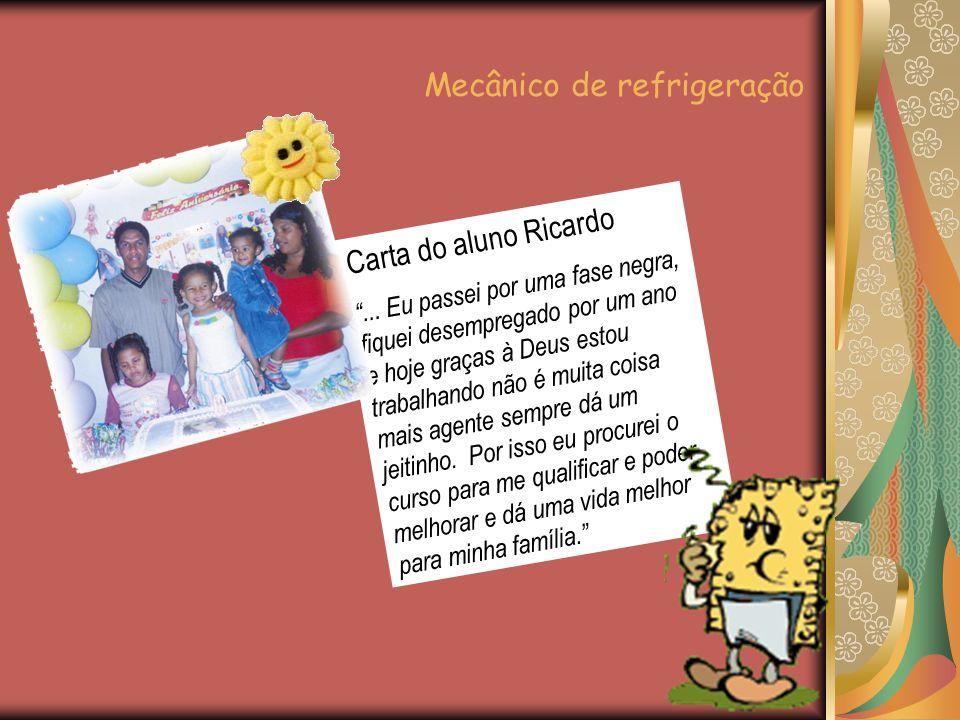 Carta do aluno Ricardo ...