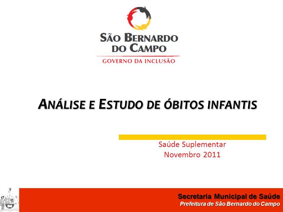 Secretaria de Saúde de São Bernardo do Campo Departamento de Atenção Hospitalar e de Urgência e Emergência Secretaria Municipal de Saúde Prefeitura de