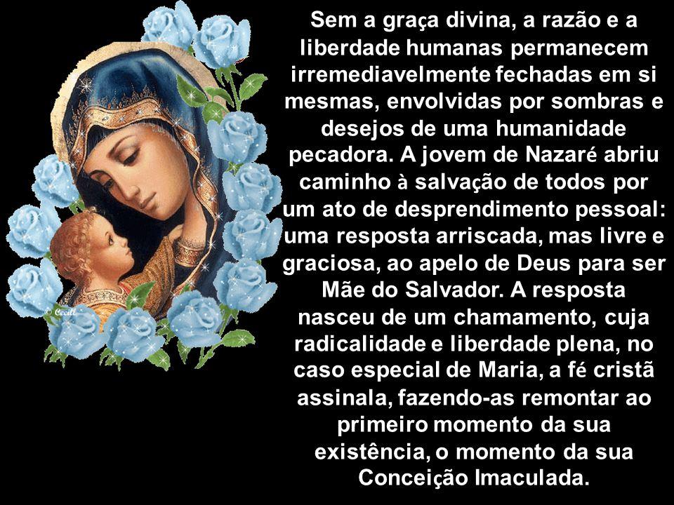 Segundo o testemunho de Lucas, a maternidade de Maria implicou um ato livre de fé, mais decisivo para a história pública da salvação do que a fé de Ab