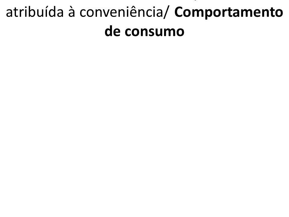 1.7.6.3. VCPPF Qual a importância atribuída à conveniência/ Comportamento de consumo