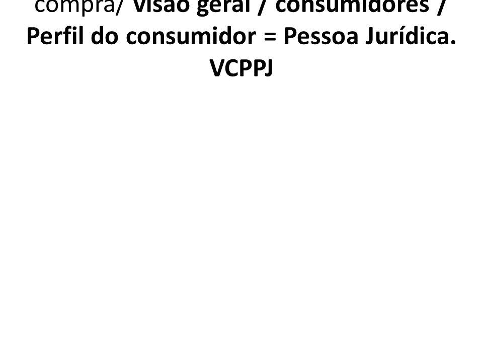 1.7.4.2. VCPPJ Com que freqüência compra/ visão geral / consumidores / Perfil do consumidor = Pessoa Jurídica. VCPPJ