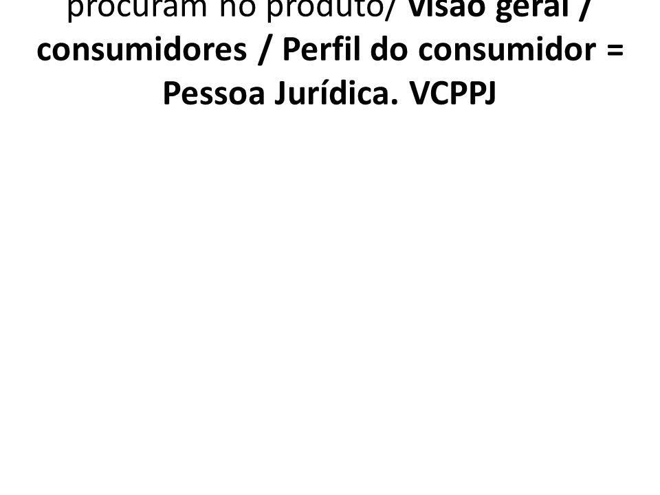 1.7.4.4. VCPPJ Principais benefícios que procuram no produto/ visão geral / consumidores / Perfil do consumidor = Pessoa Jurídica. VCPPJ