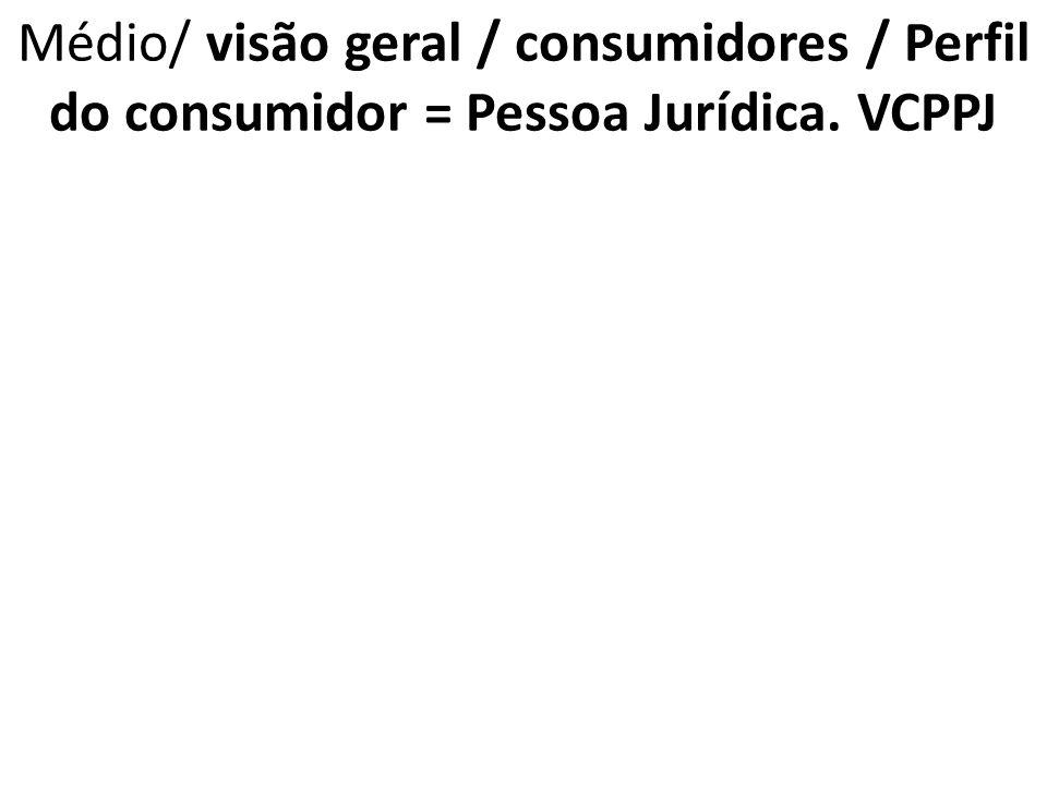 1.7.4.7. VCPPJ Sazonalidade e Gasto Médio/ visão geral / consumidores / Perfil do consumidor = Pessoa Jurídica. VCPPJ