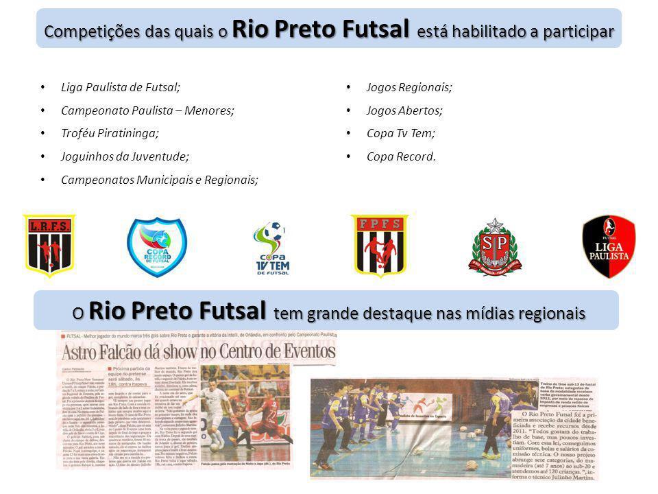 O Rio Preto Futsal tem grande destaque nas mídias regionais Competições das quais o Rio Preto Futsal está habilitado a participar • Liga Paulista de F