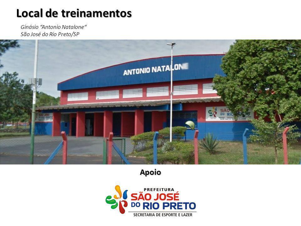 """Local de treinamentos Ginásio """"Antonio Natalone"""" São José do Rio Preto/SP Apoio"""