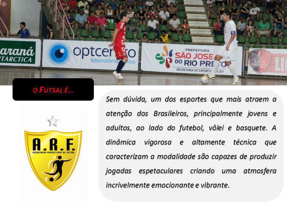 O F UTSAL É... Sem dúvida, um dos esportes que mais atraem a atenção dos Brasileiros, principalmente jovens e adultos, ao lado do futebol, vôlei e bas