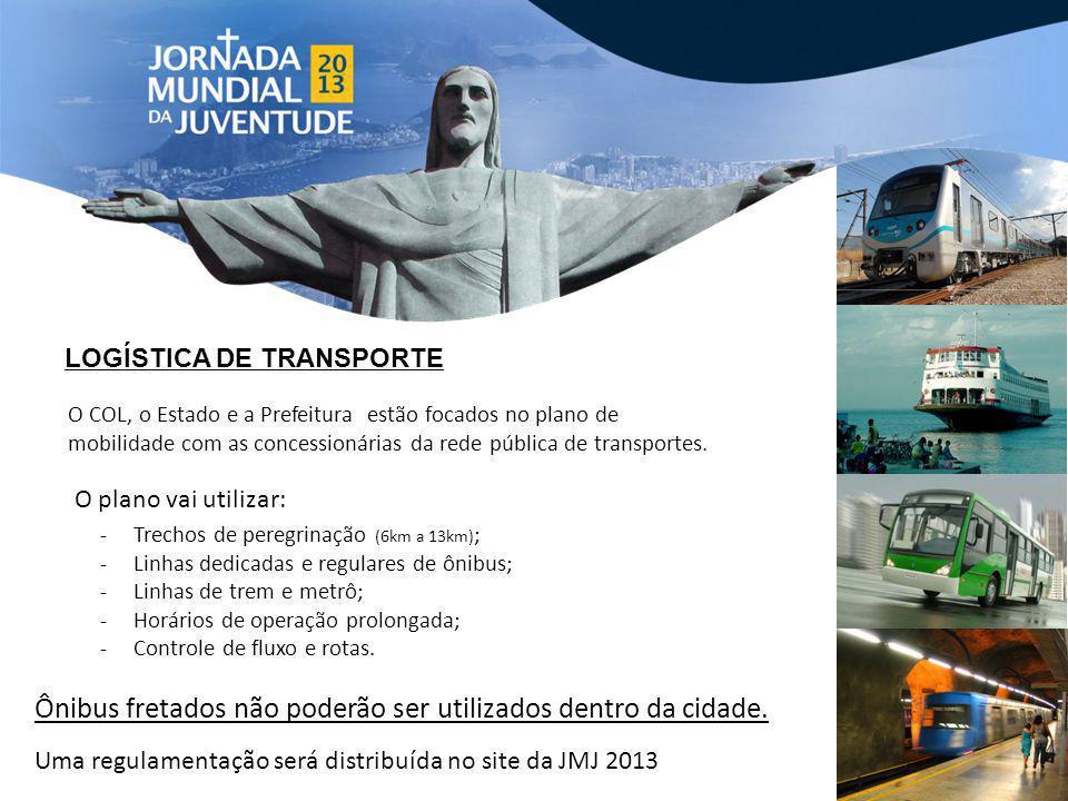 LOGÍSTICA DE TRANSPORTE O COL, o Estado e a Prefeitura estão focados no plano de mobilidade com as concessionárias da rede pública de transportes. O p