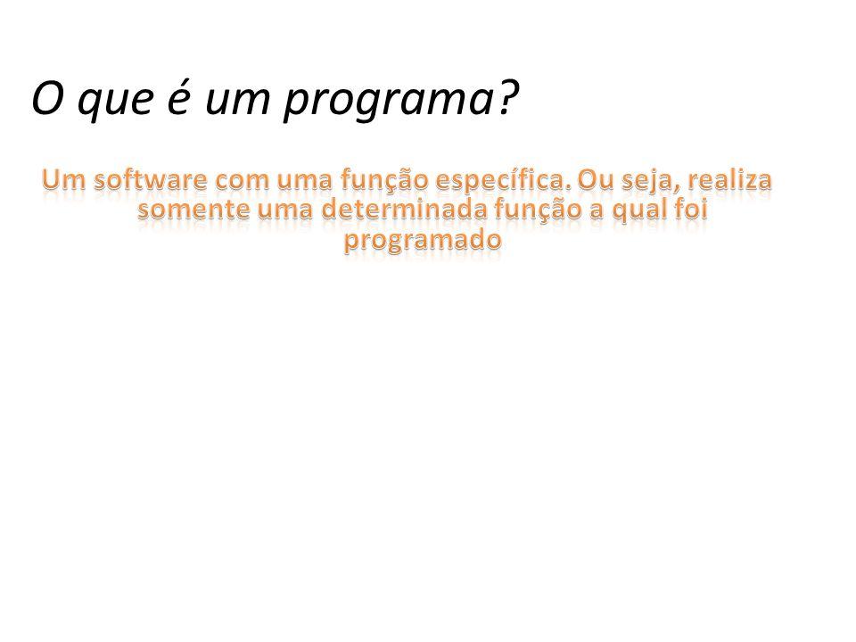 O que é um programa?