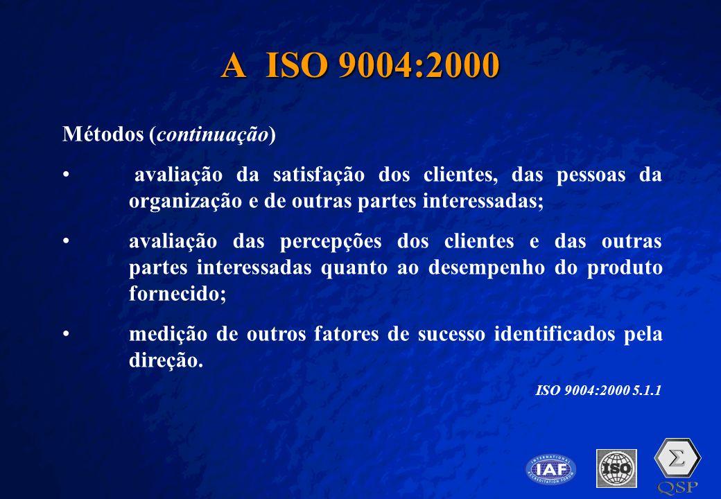 A Free sample background from www.pptbackgrounds.fsnet.co.uk Slide 28 A ISO 9004:2000 Métodos (continuação) • avaliação da satisfação dos clientes, da